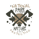 National park nature protection design template, hand drawn vector Illustration Royalty Free Stock Photography