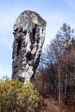 National Park in Ojcow - Poland. Rock called Hercules' Club. Royalty Free Stock Photo