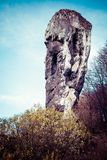 National Park in Ojcow - Poland. Rock called Hercules' Club. Stock Photography