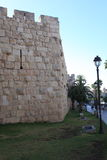 National Park and Old City Walls, Jerusalem Stock Image