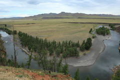 National Park Orkhon Valley Ulaan Gol River Stock Photos