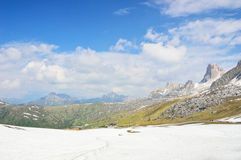 National Park panorama and dolomite mountains in Cortina d'Ampezzo, northern Italy Stock Photo