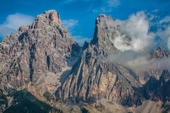 National Park panorama and Dolomiti mountains in Cortina d'Ampez Royalty Free Stock Photography