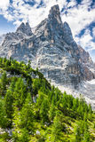 National Park panorama and Dolomiti mountains in Cortina d'Ampez Royalty Free Stock Image