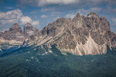 National Park panorama and Dolomiti mountains in Cortina d'Ampez Stock Images