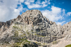 National Park panorama and Dolomiti mountains in Cortina d'Ampez Stock Photo