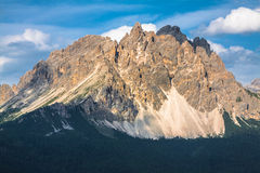 National Park panorama and Dolomiti mountains in Cortina d'Ampez Royalty Free Stock Photo