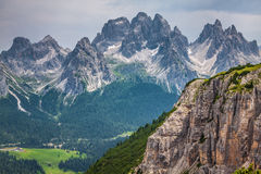 National Park panorama and Dolomiti mountains in Cortina d'Ampez Stock Photography