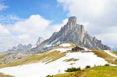National Park panorama and dolomiti mountains in Cortina d'Ampezzo, northern Italy Royalty Free Stock Images