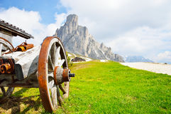 National Park panorama and dolomiti mountains in Cortina d'Ampezzo, northern Italy Royalty Free Stock Image