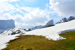 National Park panorama and dolomiti mountains in Cortina d'Ampezzo, northern Italy Royalty Free Stock Photo