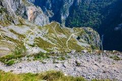National Park of the Picos de Europa. Spectacular view of the mo stock photos