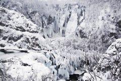 Plitvice Lakes, Croatia. National park Plitvice lakes, Croatia - winter royalty free stock photography
