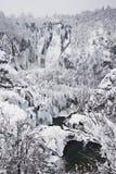 Plitvice Lakes, Croatia. National park Plitvice lakes, Croatia - winter stock images