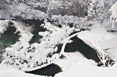 Plitvice Lakes, Croatia. National park Plitvice lakes, Croatia - winter royalty free stock photos