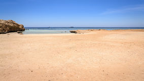 National park Ras Mohammed. In the picture one of the many beaches of Ras Mohammed National Park where tourists go to snorkeling Royalty Free Stock Image