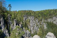 National Park of Saxon Switzerland in eastern Germany, south-east of Dresden stock photos
