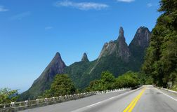 Brazilian mountains. National park Serra dos Orgaos, Brazil Mountains teresopolis finger god, Dedo de Deus stock images