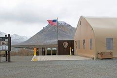 National Park Service en el parque nacional de Denali Fotografía de archivo libre de regalías