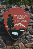 National Park Service entry sign Stock Photos