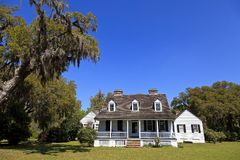The Charles Pinckney House in Mount Pleasant South Carolina. National Park Service in SC at the old Snee Farm Site royalty free stock photo