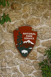 National Park Service sign Royalty Free Stock Photo