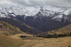 The national park of Sibillini mountains in the winter season Stock Photography
