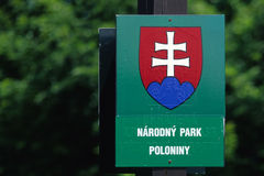 National Park sign royalty free stock image