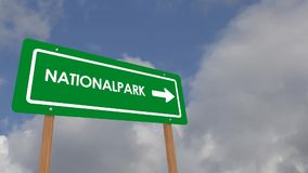 National Park sign stock video