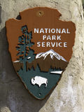 National Park Service Sign. Sign of the National Park Service at Scotts Bluff NP. The National Park Service is a United States Federal Agency that manages all Royalty Free Stock Images