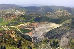 National Park Sorek. Old stone quarry Royalty Free Stock Photography