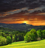 National park Sumava in Czech Republic Royalty Free Stock Images