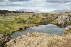 National Park of Thingvellir (Iceland) Stock Images