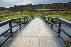 National Park of Thingvellir (Iceland) Royalty Free Stock Photo