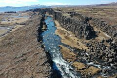 The National Park Thingvellir is very special for the reason that the gorge there is tearing apart the plates.