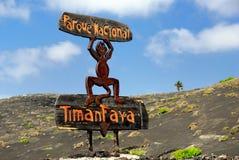 The National Park of Timanfaya Stock Photos