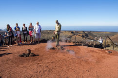 National park Timanfaya Royalty Free Stock Photography