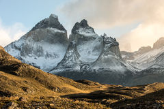 The National Park Torres del Paine, Patagonia, Chile. The famous cornos of Paine in The National Park Torres del Paine, Patagonia, Chile Royalty Free Stock Photos