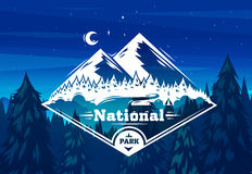 National park typography design on vector background Royalty Free Stock Photo