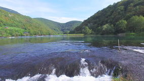 National park of Una river in Bosnia stock video footage