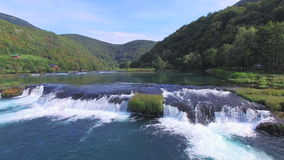 National park of Una river in Bosnia stock video