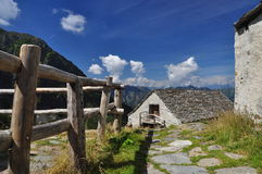 National park Val Grande, Italy. Mountain architecture Stock Photography