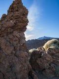 National Park. Volcanic landscape - stone - hills - blue sky - bright daylight Stock Image
