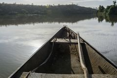 Fishing boat on the niger river, Niger stock photos