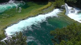 National Park Waterfalls Krka, Croatia stock footage