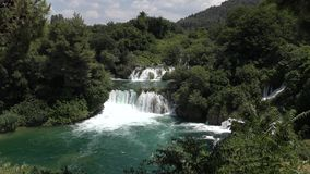 National Park Waterfalls Krka in Croatia stock video
