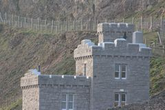 Small catle in the mountain of Conwy royalty free stock photos