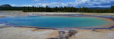 National park Yellowstone. One photo of a pool in National park Yellowstone royalty free stock photo