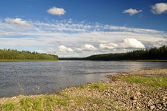 The Shchugor river in the Northern Urals. Stock Image