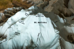 National Parks model of Mount Denali and Alaska Mountain Range, Denali National Park, Alaska Royalty Free Stock Photo